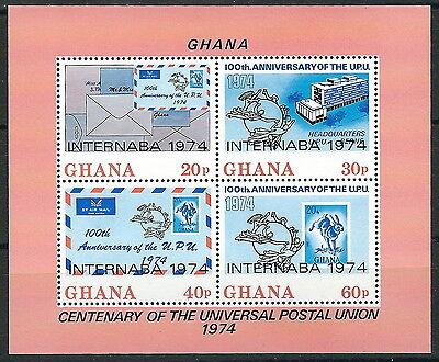 Ghana - INTERNABA '74 Block 56 A postfrisch 1974 Mi.Nr. 560-563