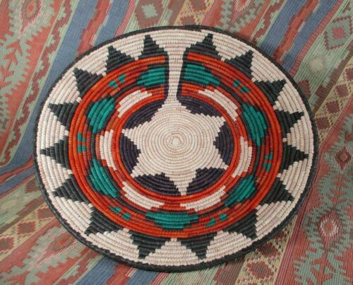 Southwest Style Basket  Southwest Decor   Tight Weave Great Colors  over 13 in