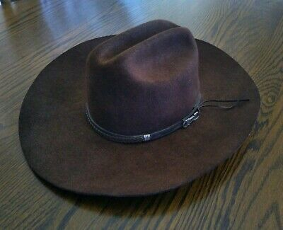 Renegade wool Hat 100% wool brown sz 6 3/4 made in the USA Texas ranch cowboy