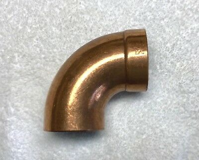 Copper 2 Dwv Street 90 Elbow Fitting Nos Plumbing