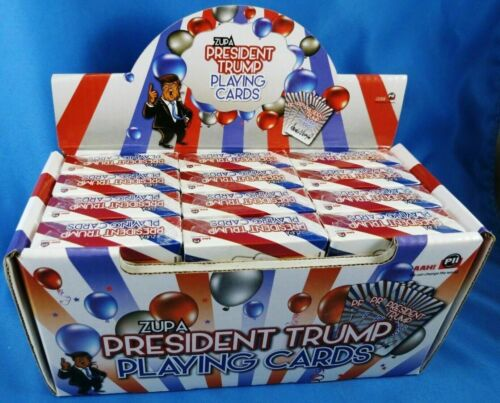 WHOLESALE ~ DONALD TRUMP PRESIDENT ~ 12 DECKS Playing Cards ~ In Counter Display