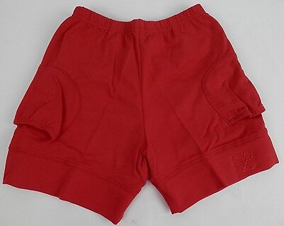 In Between Courtwear Small Court Shorties womens red tennis undergarment USA New - Red Undergarments