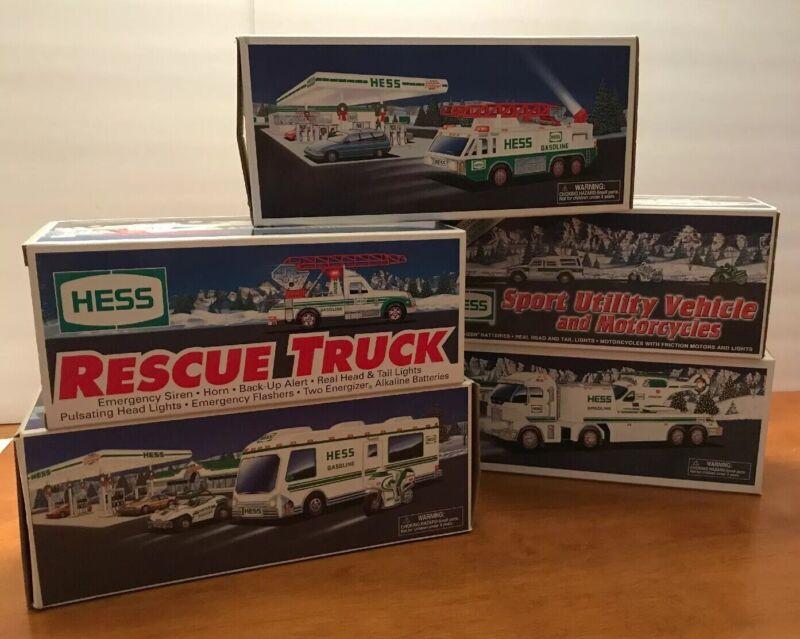 Lot Of 5 Hess Trucks - NEW IN BOX - 1994, 1996, 1998, 2004 & 2006