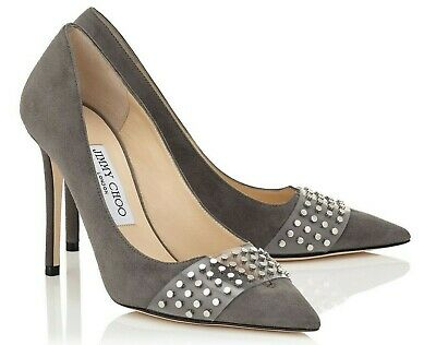 JIMMY CHOO SUEDE HAZEL 100 Pointy Toe PUMPS STUDS HEELS SLING SCHUHE SHOES 36 Pointy Toe Pumps Schuhe