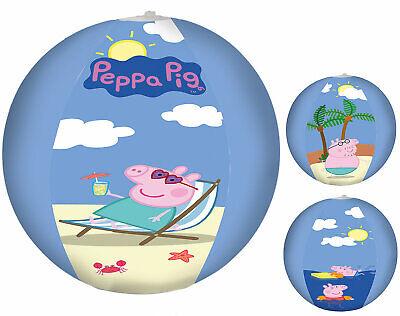 Kinder Wasserball - Peppa Pig / Peppa Wutz - Strand Beach Ball Ø 29cm #264 (Peppa Pig Beach)