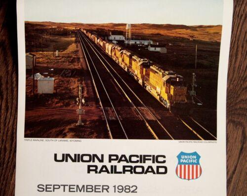 Union Pacific Railroad 1982 Wall Calendar, Train Photos