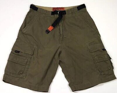 Abercrombie Fitch Cargo Shorts Sz S 32 Military Fatigue Look Lightweight Belt