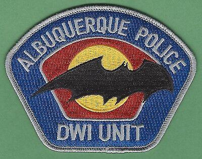 ALBUQUERQUE NEW MEXICO POLICE DWI ENFORCEMENT PATCH STYLE 2
