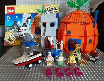 LEGO 3827 Adventures in Bikini Bottom 100% Complete Instructions and Minifigures