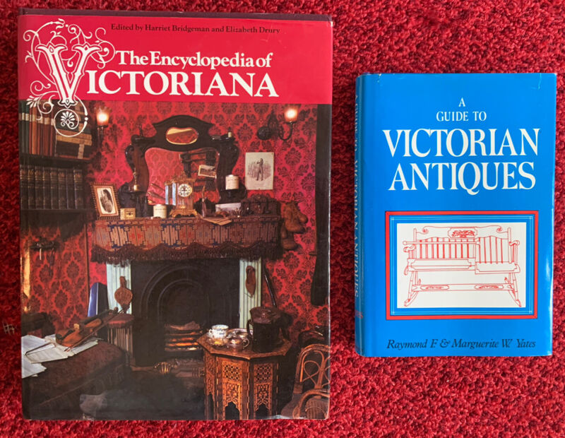 Lot 2 Books: Encyclopedia Of Victoriana Hardcover Book/ Guide Victorian Antiques