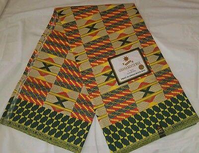 Kente style African wax ankara fabric 6yards (Men's Ankara Styles)