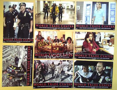 Lobby Card Set~ WORLD TRADE CENTER ~2006 ~ Nicolas Cage~Maria Bello~Michael Pena