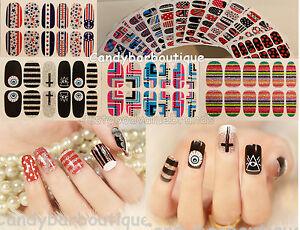 NEW-Self-Adhesive-Quirky-Fun-Nail-Wrap-Art-Stickers-Foil-Nail-Tip-Polish-Strip