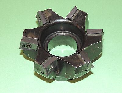 Iscar 4 Heavy Duty 75 Face Mill W New Inserts 3m F75ax D4.00-6-1.50-20