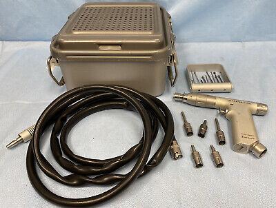 Zimmer Hall Drillreamer 5044-01 Handpiece With 5052-10 Hose Bits 100 Psi