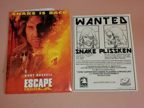 ESCAPE FROM L.A. US Presskit 1996 - John Carpenter Wanted Poster Kurt Russell