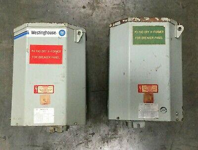 Westinghouse 10 Kva Type Ep Transformer Pri 240480 Sec 120240 1 Phase