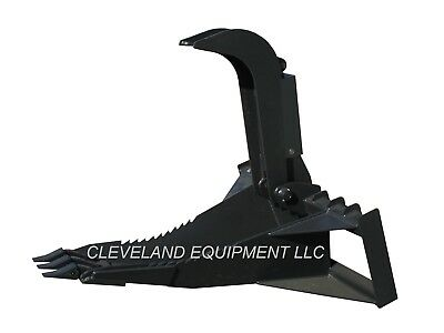 New 62 Xl Stump Grapple Bucket Attachment For Bobcat Skid Steer Track Loader