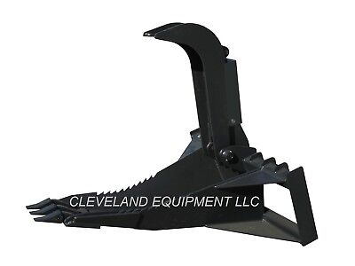 New 62 Xl Stump Grapple Bucket Attachment Skid Steer Loader Tree Root Ripper
