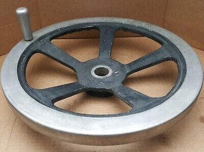 Jergens 18 Hand Wheel With Handle 1-78 Bore 5-spoke Cast Aluminum Alloy