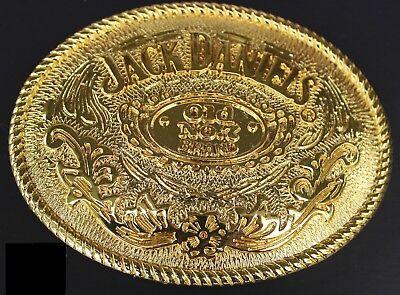 "Jack Daniels Gold color Old No.7 Belt Buckle Western Cowbow 4 X 3 1/8 "" USA"