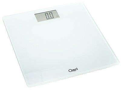 Ozeri Precision Digital Bath Scale  400 Lbs Edition   In Tempered Glass White