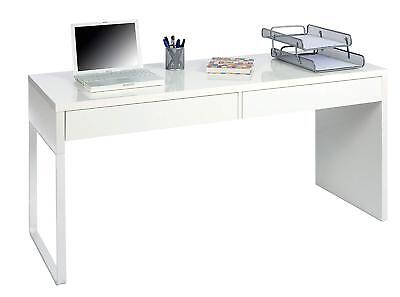 Mesa de escritorio blanco brillo / Mesa estudio / Mesa oficina /...