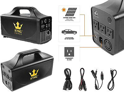 Kyng Power Solar Portable Generator 500W 288Wh Emergency UPS Battery NEW #1
