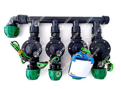 Kit Irrigation Programmer Battery Baccara 4 Zone Solenoid Valve 1