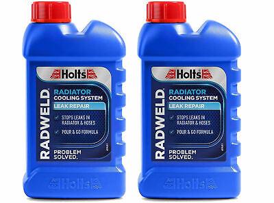 2 x HOLTS RADWELD RAD RADIATOR LEAK REPAIR STOPS LEAKS NEW