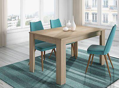 Mesa de comedor o salon extensible color roble canadian 140 cm a...