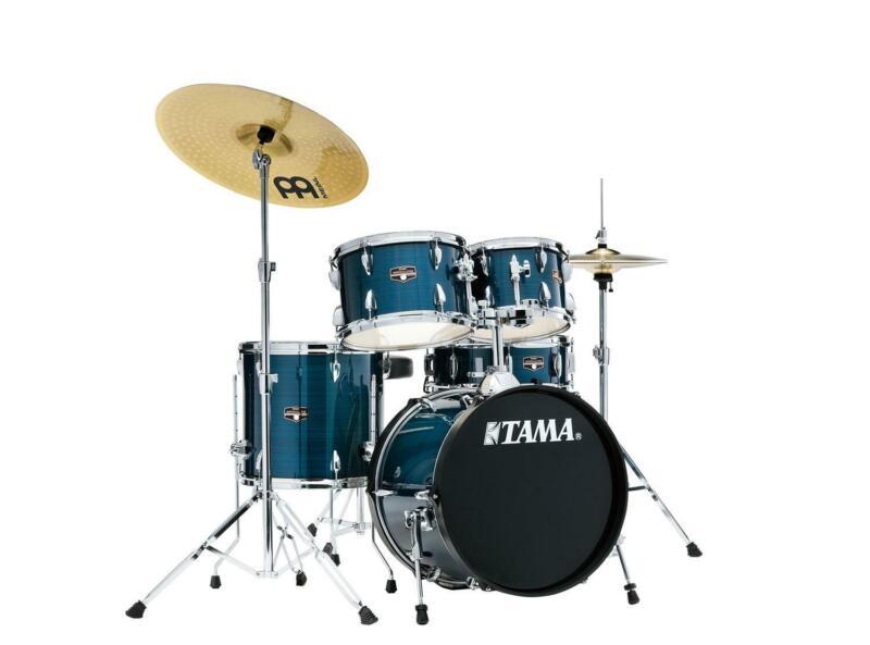 "Tama Imperialstar 5-Piece Complete Drum Set w/ Meinl HCS Cymbals - 18"" Bass"