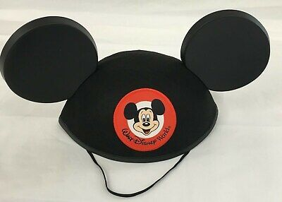 Walt Disney World Mickey Mouse Mouseketeer Classic Ear Hat Black NEW Adult - Mickey Ears Hats