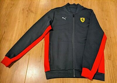 Official Grey Puma Ferrari F1 Bomber Jacket / Tracksuit Top Size S