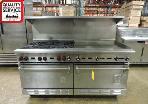 Wolf C68d-1251 Commercial 6-burner And Griddle Top Range With 2 Standard Ovens