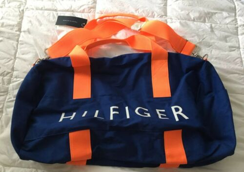 Tommy Hilfiger Duffel Bag Blue And Orange NWT
