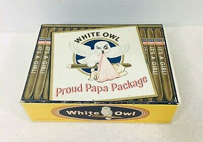 White Owl Girl (White Owl Proud Papa Package It's a Girl Cigar Box Empty)