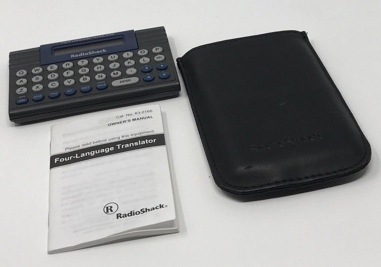 Radio Shack Four Language Translator, Manuel & Case New Batteries