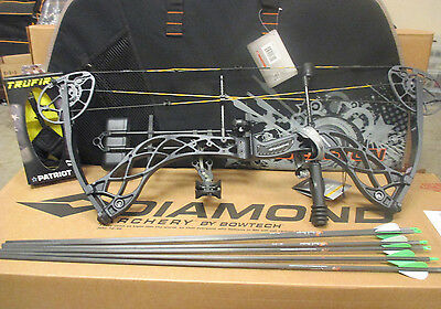2018 Diamond Carbon Deploy SB Compound Bow Package RH 70lbs W/ Case Arrows