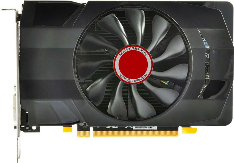 XFX AMD Radeon RX 550 Core Edition 4GB GDDR5 PCI Express 3.0 Graphics Card Black RX-550P4SFGR