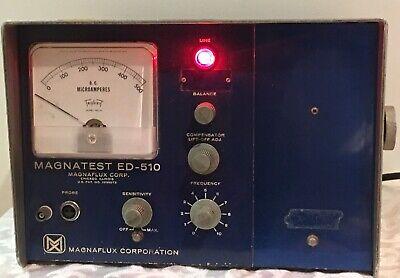 Vintage Magnaflux Magnatest Ed-510 Test Equipment