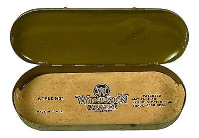 WILLSON Goggles TIN Made in USA Antique Collector Glasses Vintage Memorabilia