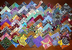 150 Aboriginal Australian Art prints quilting fabric 2.5 inch squares #56f