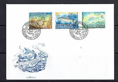 """Ersttagsbrief Liechtenstein """" Fische """" Mich. Nr. 922-24"""
