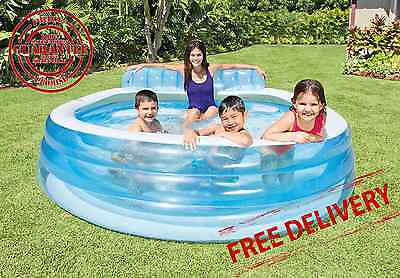 Inflatable Family Pool Lounge Swim Center Kids Swimming Play Fun Intex Water NEW