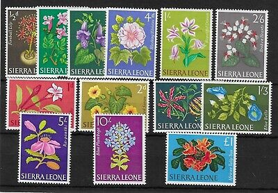 (16) Sierra Leone 1963 Flowers Set SG242-254 LHM