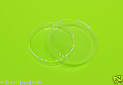 Petri Dish Borosilicate Glass Culture Tissue 100mm Lab Laboratory Specimen New