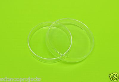 Petri Dish Borosilicate Glass Culture Tissue 100mm Lab Specimen New Set Of 5