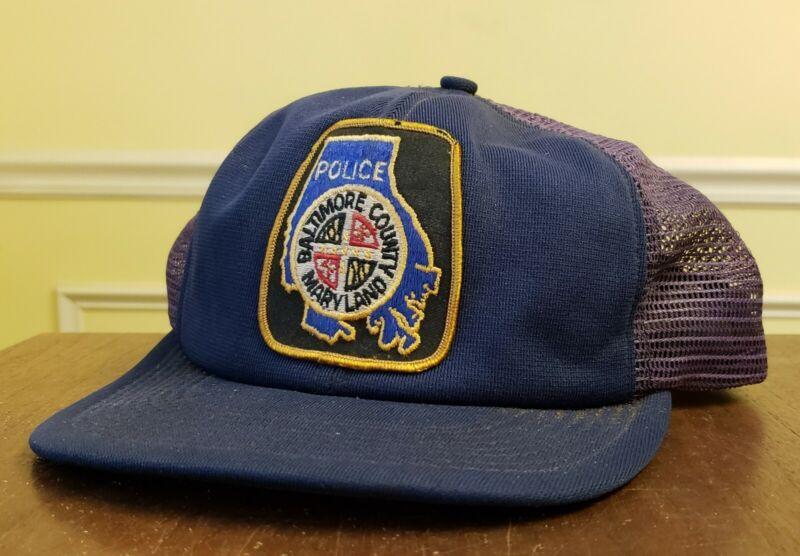 Baltimore County Police Badge Hat Baseball Trucker Cop VTG Mesh Law Enforcement