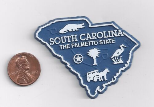 SOUTH CAROLINA  SC  THE PALMETTO   STATE OUTLINE MAP MAGNET , NEW